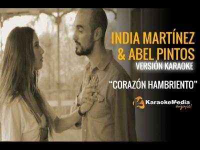 India Martinez Y Abel Pintos – Corazon Hambriento (Karaoke)