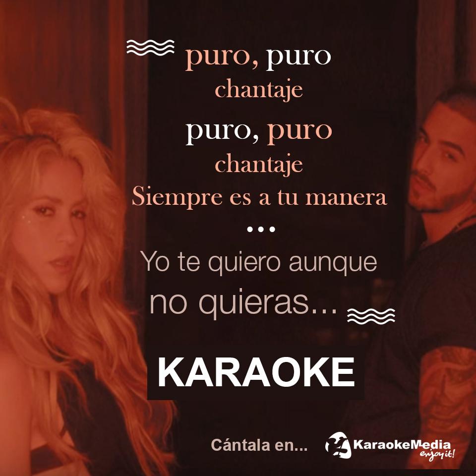 Shakira y Maluma, Chantaje Karaoke