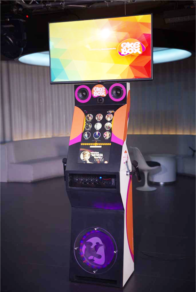 OkeBox, the vip jukebox of KaraokeMedia, switch it on and sing